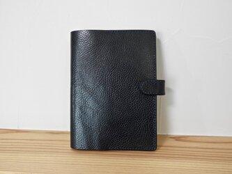 イタリアンレザーB6サイズの手帳カバー(ネイビー)の画像