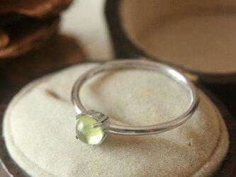 宝石質*天然石ペリドット シルバーリング の画像