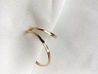 ゴールドフィルドの槌目のイヤーカフ 左用の画像