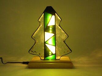 ステンドグラス ライトアップツリー(クリスマス) LEDランプの画像