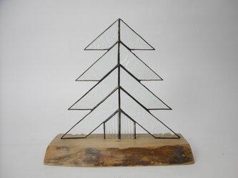 ステンドグラス クリスマスツリー クリアガラスの画像