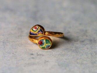 C様ご注文分*古代モザイク・ガラス 指輪*free size フリーサイズの画像
