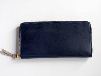 オールド イングランド_ロイヤルブルー◆外装◆おとな財布◆ラウンドジップの画像