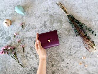 ダコタ_パープル◆外装◆こども財布◆三つ折りの画像