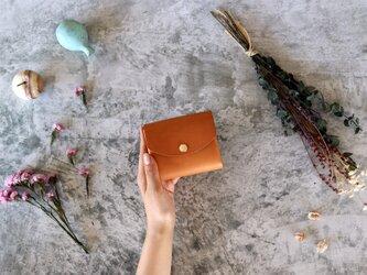 イングラサット_タン◆外装◆こども財布◆三つ折りの画像
