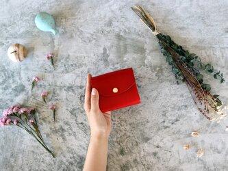イングラサット_レッド◆外装◆こども財布◆三つ折りの画像