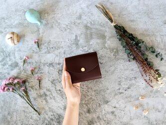 イングラサット_ダークブラウン◆外装◆こども財布◆三つ折りの画像