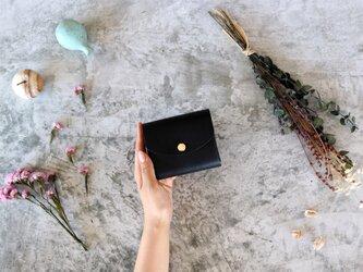 イングラサット_ブラック◆外装◆こども財布◆三つ折りの画像
