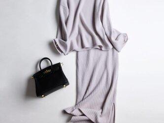 【受注製作】カシミアトップス上着+スカート・ ニット セット・セーター オーダーメイドKB720の画像