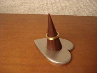 クリスマスプレゼントに!指輪スタンド シングルハート指輪スタンド 背が高いバージョン  12530の画像