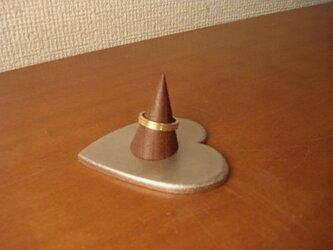 クリスマスプレゼントに!指輪スタンド シングルハート指輪スタンド 背が低いバージョン  12530の画像