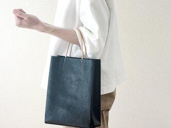 [新色]紙袋っぽい革袋S・ネイビー[受注生産品]の画像