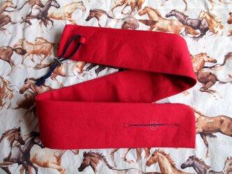 短鞭ケース・赤(ひも紺)の画像