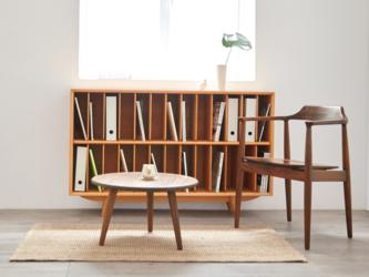 オーダーメイド 職人手作り ブックシェルフ 収納家具 本棚 マガジンラック 天然木 木目 無垢材 木工 LR2018の画像