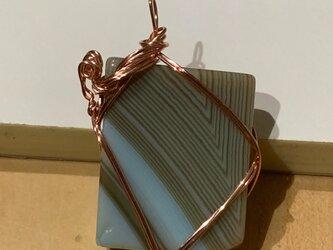 四角い石のペンダントトップの画像