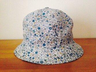 『特別注文品』小花柄トレッキングハット 花畑ブルーの画像