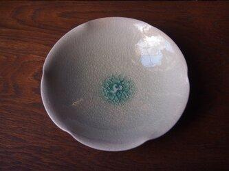 りんご釉輪花鉢の画像