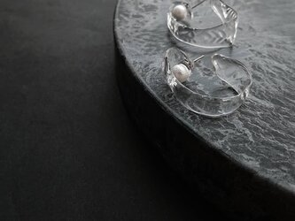 送料無料 kagero/hoop pearl/pierceの画像