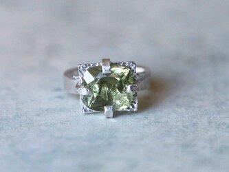 古代スタイル*天然ディアスポア 指輪*8.5号 SVの画像