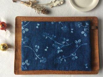 藍染め ティーマット「花降る日」の画像