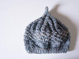 〇送料無料〇 どんぐりニット帽子新作 インディゴライトブルーの画像