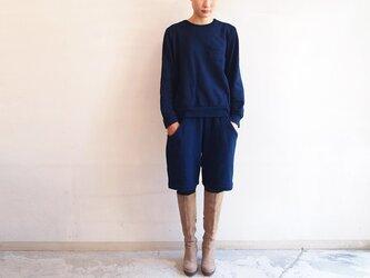 ■スウェットポケットパンツ/藍の画像