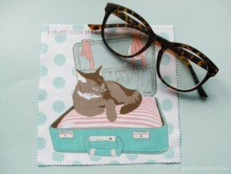 トランク猫のメガネ拭きの画像