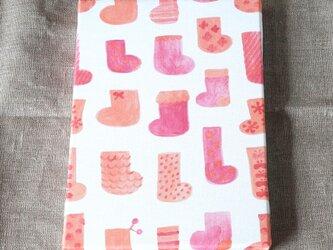 socks ( orange × pink ) ファブリックパネルの画像