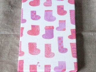 socks ( pink × purple ) ファブリックパネルの画像