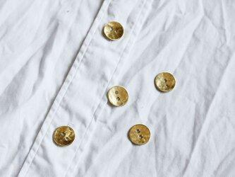 満月ボタン(真鍮製ボタン)16mm 5個セット つぶつぶの画像