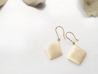 k10✼Makkoh pierced earrings 92015の画像