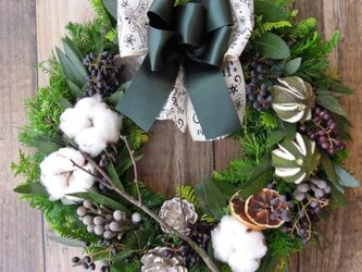 『送料無料』*2 Fresh Xmas Wreath クリスマス リースの画像