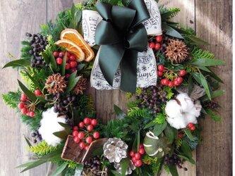 『送料無料』*4 Fresh Xmas Wreath フレッシュ クリスマス リースの画像