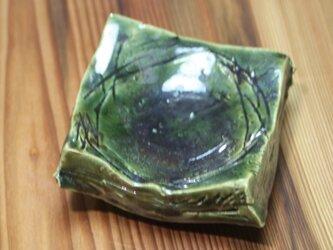 織部四方厚豆皿  iB05の画像