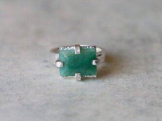 古代スタイル*天然グランディディエライト 指輪*8号 SVの画像