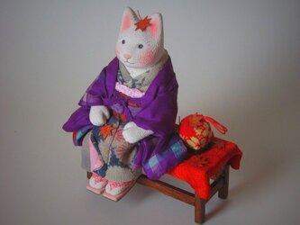 縮緬福猫 紅葉猫(もみじねこ) その四の画像