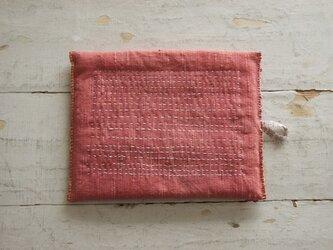鍋敷き 草木染めのポットマット(インド茜)の画像