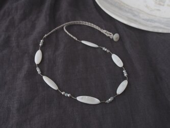 White Marquise Necklaceの画像