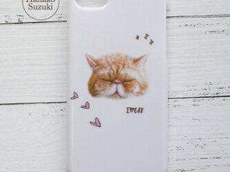 居眠りCAT iPhoneケース(ホワイト) [iPhone6/6S/7/8対応]の画像
