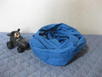 ダブルガーゼスヌード《ダックブルー・二重》の画像