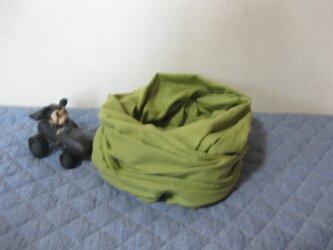 ダブルガーゼスヌード《リーフグリーン・二重》の画像