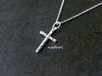 【croix】sv925 reversible cross necklaceの画像