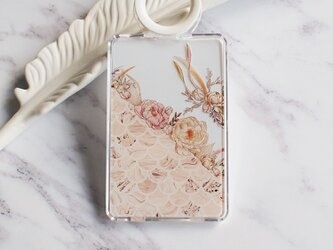 Autumn Flower Composition with Marble Pattern クリアカードケースの画像