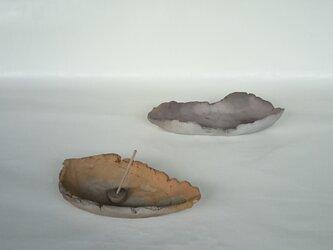 焼き締め香炉 II・赤茶の画像
