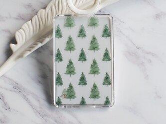 Pine Trees & The Hidding Snowman クリアカードケースの画像