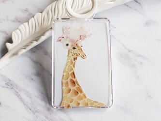 Am I pretty, Giraffe クリアカードケースの画像