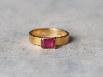 古代スタイル*天然ルビー 指輪*10号 GPの画像
