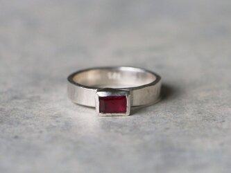 古代スタイル*天然ルビー 指輪*10号 SVの画像