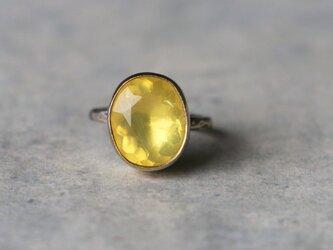 天然石*イエローオパール 指輪*8号 SVの画像