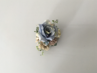 コサージュ『rose』/antique blueの画像